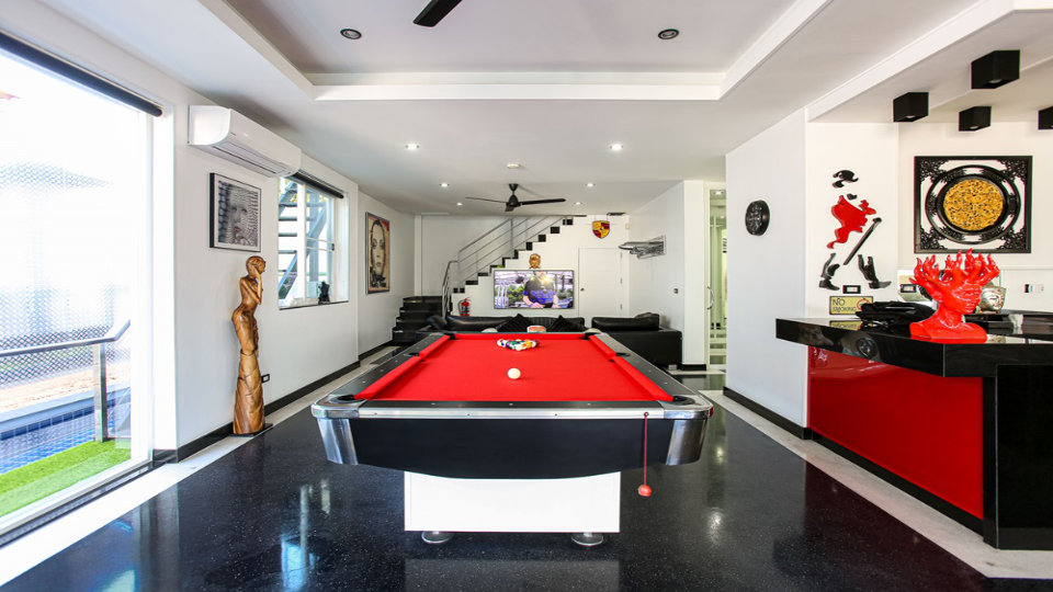 Pool Table CloseUp - Villa Hotel Rawai Phuket - 7 beds 7.5 baths