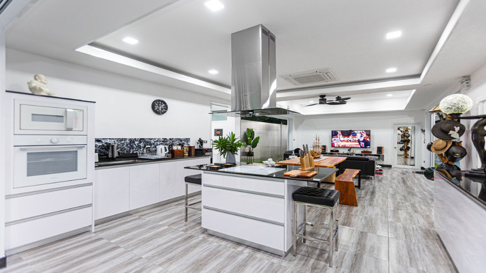 Built-In Kitchen - One-Story Pool Villa Rawai 4 beds 4 baths
