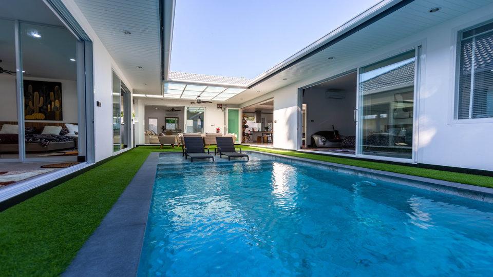 Pool View at Deck - One-Story Pool Villa Rawai 4 beds 4 baths