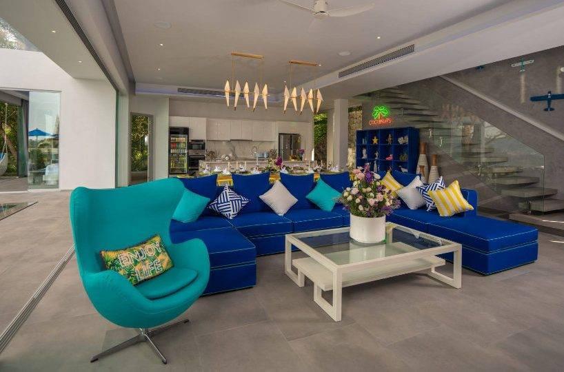 Living Room - Villa Enjoy Patong Beach Phuket