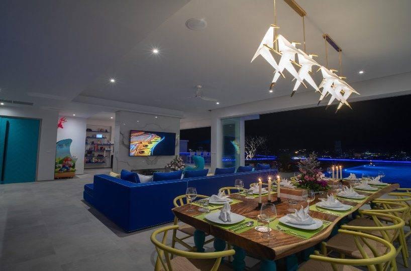 Living and Dining - Villa Enjoy Patong Beach Phuket