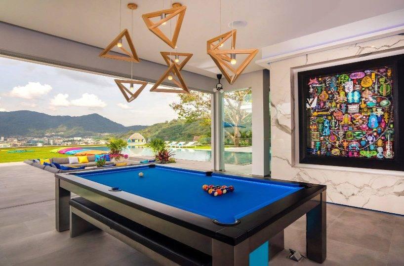 Pool Table CloseUp - Villa Enjoy Patong Beach Phuket