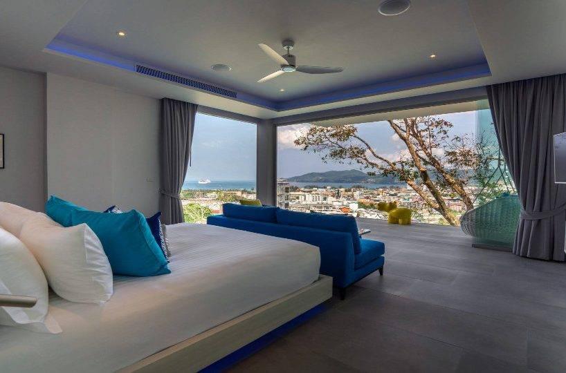 Bedroom Blue - Villa Enjoy Patong Beach Phuket