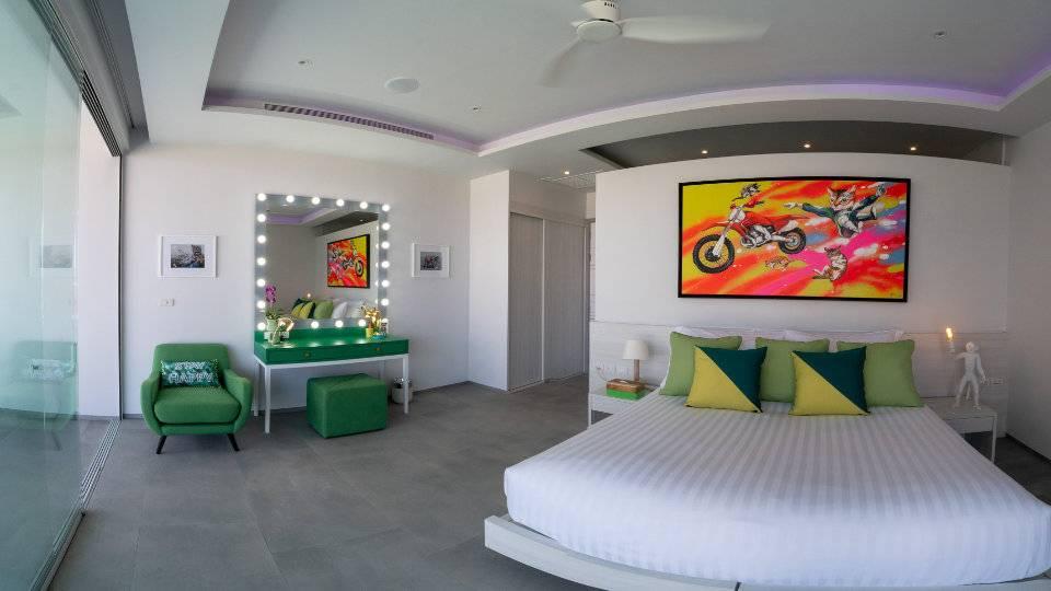 Bedroom Green - Villa Enjoy Patong Beach Phuket